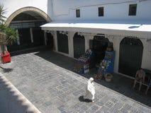 De straat van S Zitouna van de moskee. Tunis. Tunesië stock foto's