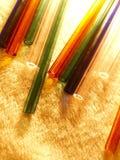 Szkło, szklany tubing, dmuchanie, podmuchowy szkło, drymby zdjęcie stock