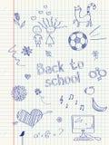 Szkół doodles Zdjęcia Royalty Free