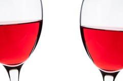 Szkła czerwone wino Fotografia Stock