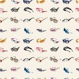 szkła deseniują bezszwowych okulary przeciwsłoneczne royalty ilustracja