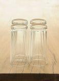 szkła drewniany stołowy Obraz Stock