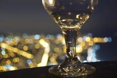 Szkła i miasta światła Zdjęcia Royalty Free