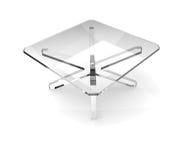 szkła kwadrata stół ilustracja wektor