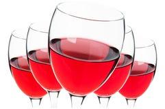 Szkła odizolowywający czerwone wino Obraz Stock