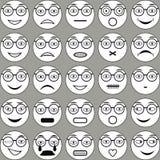 Szkła Smiley Zdjęcia Stock