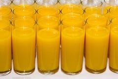 Szkła sok pomarańczowy Zdjęcie Stock