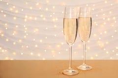 Szkła szampan zdjęcia royalty free
