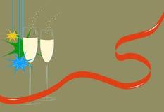 Szkła szampan Obraz Stock