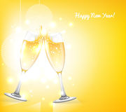 Szkła szampan Zdjęcia Stock