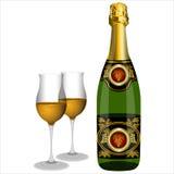 Szkła szampan Obrazy Stock