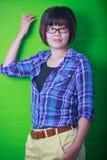 szkła target345_1_ być ubranym kobietę Fotografia Stock