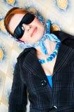szkła target529_0_ kobiety fotografia stock