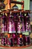 szkła ustawiający wino Obrazy Royalty Free