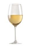szkła wino odosobniony biały Zdjęcia Royalty Free