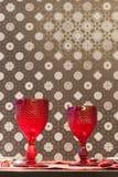 szkła wino restauracyjny stołowy Zdjęcia Stock