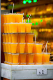 Szkła z świeżym sokiem pomarańczowym Obraz Royalty Free