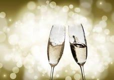 Szkła z szampanem Fotografia Royalty Free