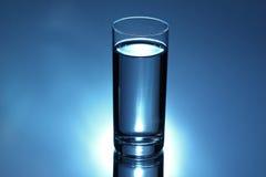 szkło błękitny woda zdjęcie stock