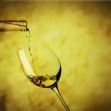 Szkło biały wino Zdjęcie Royalty Free