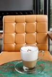 Szkło cappuccino kawa fotografia stock