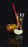 Szkło cydr, jabłko Fotografia Royalty Free