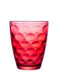 Szkło czerwień z pięknymi wzorami Fotografia Stock