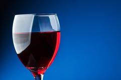 Szkło czerwone wino Obrazy Stock