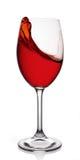 Szkło czerwone wino Obraz Stock