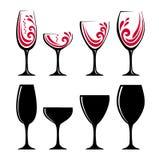 Szkło czerwone wino lub sok ilustracja wektor
