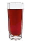 Szkło czerwony jabłczany sok z odosobnionym Obrazy Royalty Free