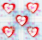 Szkło deseniujący, piękny kolor plamy serca tło Zdjęcia Royalty Free