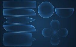Szkło guziki ustawiający również zwrócić corel ilustracji wektora Obraz Stock