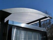Szkło i Aluminiowy Zbudowany Autobusowego schronienia dachu szczegół zdjęcia stock