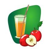 Szkło jabłczany sok royalty ilustracja
