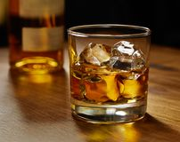 szkło kołysa whisky Obraz Royalty Free
