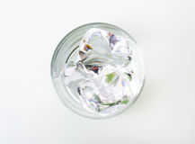 szkło lód Zdjęcie Stock