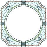 Szkło nadokienna rama dla fotografii. ilustracji