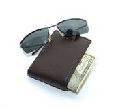 szkło pieniądze torebka zdjęcia royalty free
