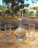 Szkło pije garnek Fotografia Stock