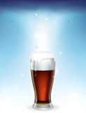 Szkło piwo Obraz Stock