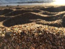 Szkło plaża w Hanapepe na Kauai wyspie, Hawaje Zdjęcia Royalty Free