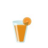 Szkło sok pomarańczowy Obrazy Royalty Free