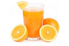 Szkło sok pomarańczowy Obraz Stock