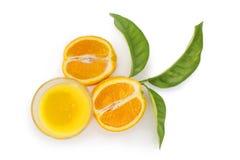 Szkło sok pomarańczowy Fotografia Royalty Free