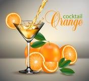 Szkło sok pomarańczowy i pluśnięcia Obraz Stock