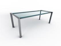 szkło stół Zdjęcie Stock
