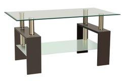Szkło stół Zdjęcia Stock