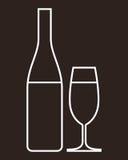 Szkło szampan i butelka Obrazy Royalty Free