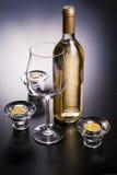 szkło ustawione świeczki ustawiony wine Obraz Stock